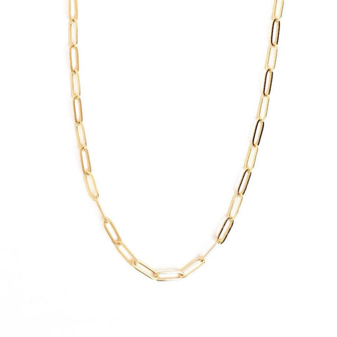 "Go Rings 14K Gold-Filled Paperclip Chain 16""-18"" Necklace"
