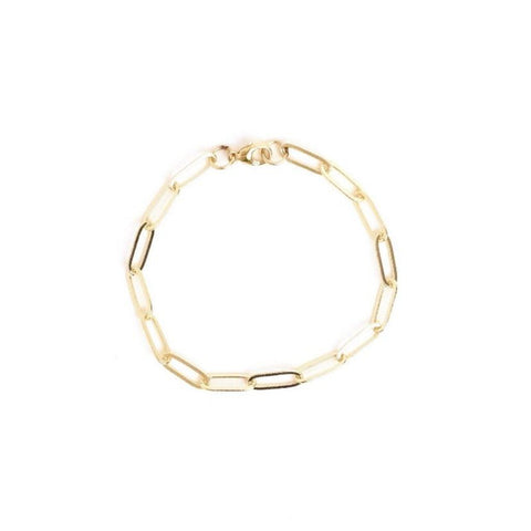 Go Rings 14K Gold-Filled Paperclip Chain Bracelet