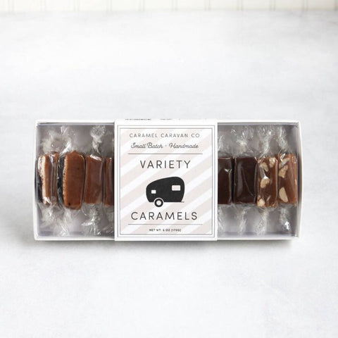 Caramel Caravan Hand Crafted Caramels Variety Box, 10-pc