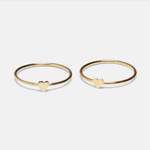 Collective Hearts Love Stack 14K Gold-Filled Ring