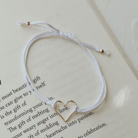 Collective Hearts Armed With Love 14K Gold Fill & Satin Cord Bracelet
