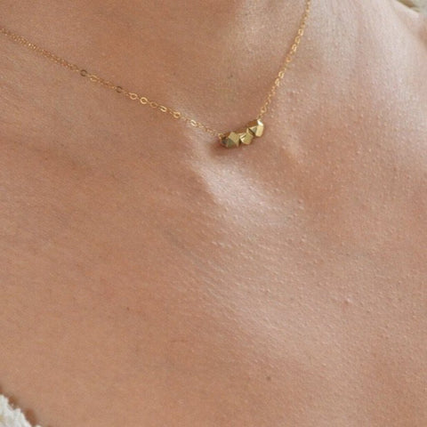 "FMG 14"" 14K Gold-Filled Chain w/Brass Beads Necklace"