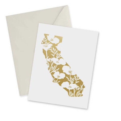 doodles.ink Golden California Notecard