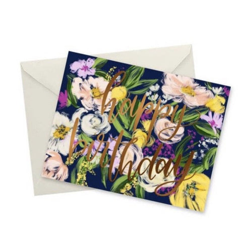 doodles.ink Floral Happy Birthday Notecard