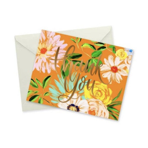 doodles.ink Floral Thank You Notecard