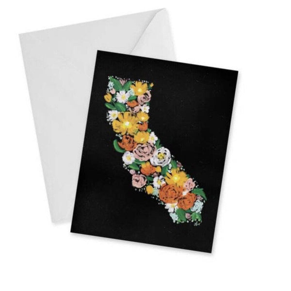 doodles.ink Floral California Notecard