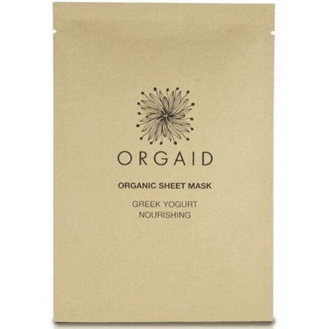 Orgaid Greek Yogurt & Nourishing Organic Facial Sheet Mask Single