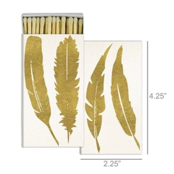 Matches - Feather Gold Foil