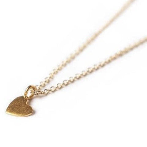 "Adorn 512 14K Gold-Filled Tiny Heart 14"" Necklace w/2"" Extension"