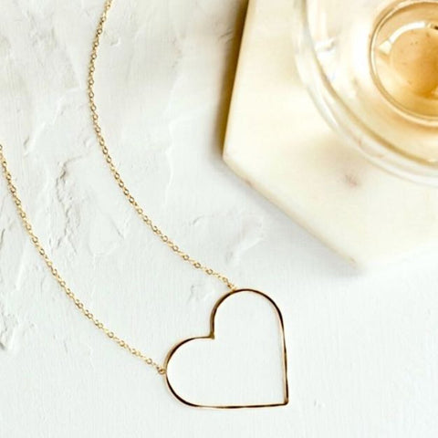 Collective Hearts Heart of Gold Petite 14K Gold-Filled Necklace