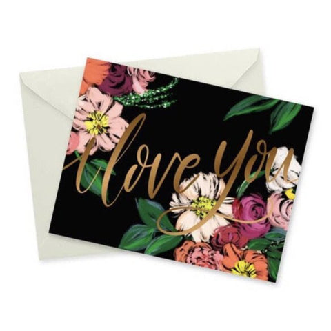 doodles.ink Floral I Love You Notecard