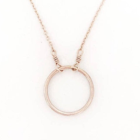 "Adorn 512 14K Gold-Filled Karma Open Circle 14"" Necklace w/2"" Extension"