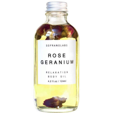 SopranoLabs Rose & Geranium Relaxation Body Oil 4.2 fl oz