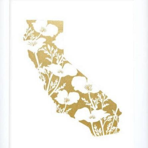 doodles.ink Golden California Art Print
