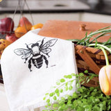 Green Bee Honey Bee Tea Towel