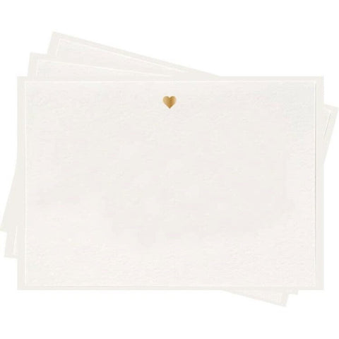 Dahlia Press Gold Heart Letterpress Boxed Flat Note Cards