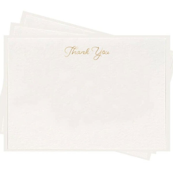 Dahlia Press Gold Thank You Letterpress Boxed Flat Note Cards