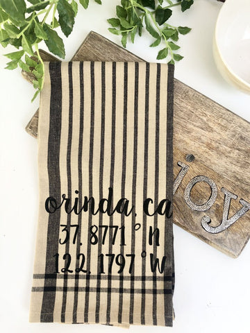 Luma V Orinda Coordinates Plaid Tea Towel