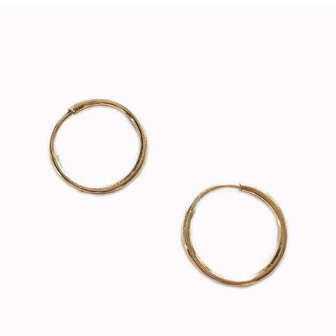 Go Rings 14K Gold-Filled Tiny Endless Hoop Earrings