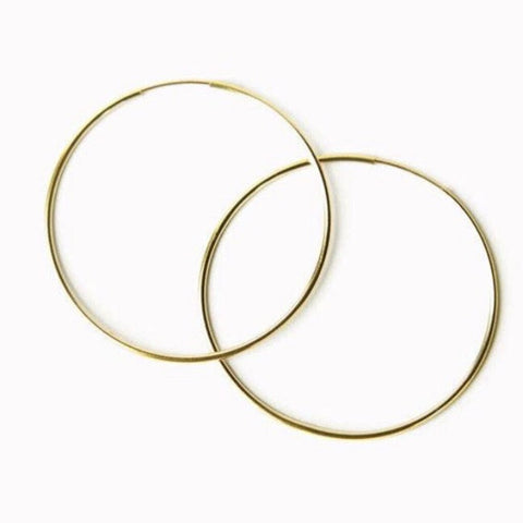Go Rings 14K Gold-Filled Medium Endless Hoop Earrings