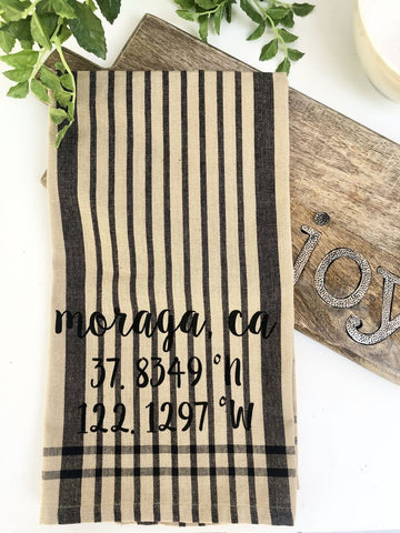 Luma V Moraga Coordinates Plaid Tea Towel