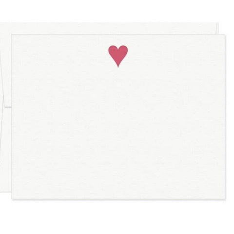 Missive Press Red Heart Letterpress Boxed Flat Note Cards