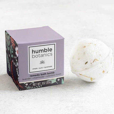 Humble Organics Remedy Bath Bomb Single: Lavender & Chamomile