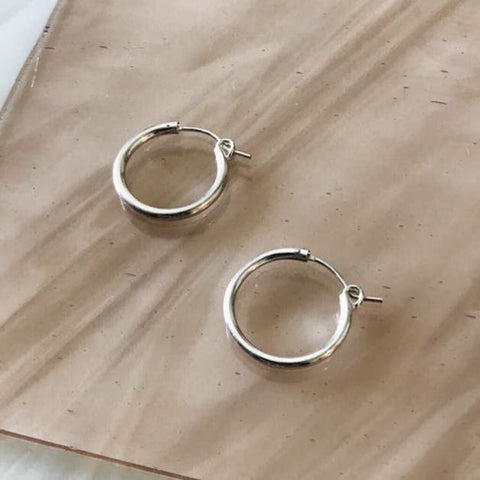 Tumble 14K Gold-Filled Tubing Thick Small Hoop Earrings