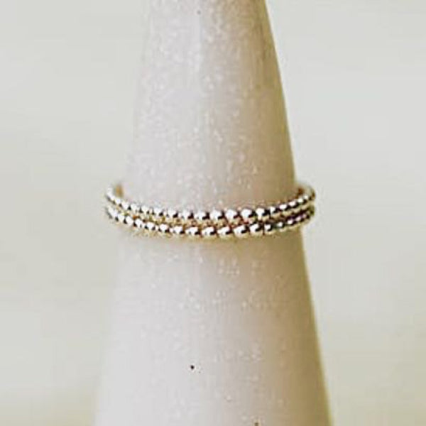 Tumble 14K Gold-Filled Beaded Ring, Size 7