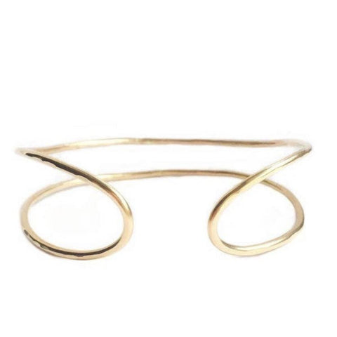 Adorn 512 14K Gold-Filled Double Stack Cuff Bracelet