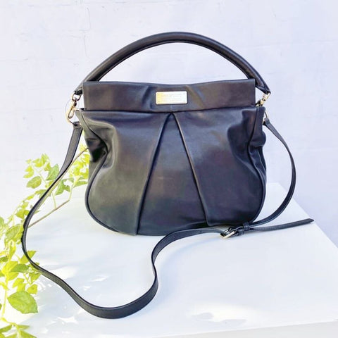 Marc by Marc Jacobs Marchive Hilli Smooth Leather Hobo Crossbody Bag