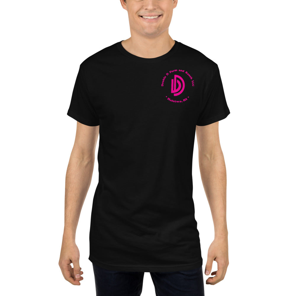 Long Body Urban Tee BLK/PNK