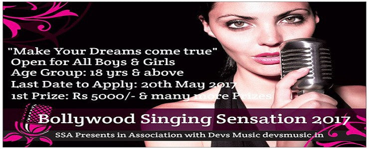 bollywood singing sensation contest competition