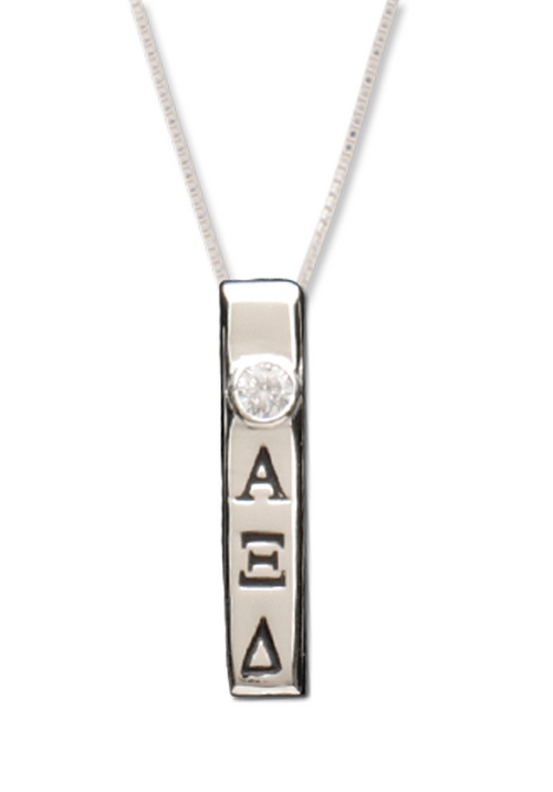Vertical Bar Letters Necklace - Xi Boutique