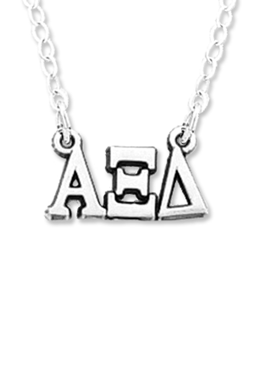 Horizontal Greek Letters Necklace - Xi Boutique