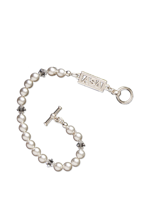 Cut Out Letters Pearl Bracelet - Xi Boutique