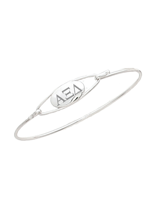 Engraved Letters Bangle - Xi Boutique