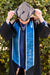 Navy with Light Blue Trim Graduation Stole