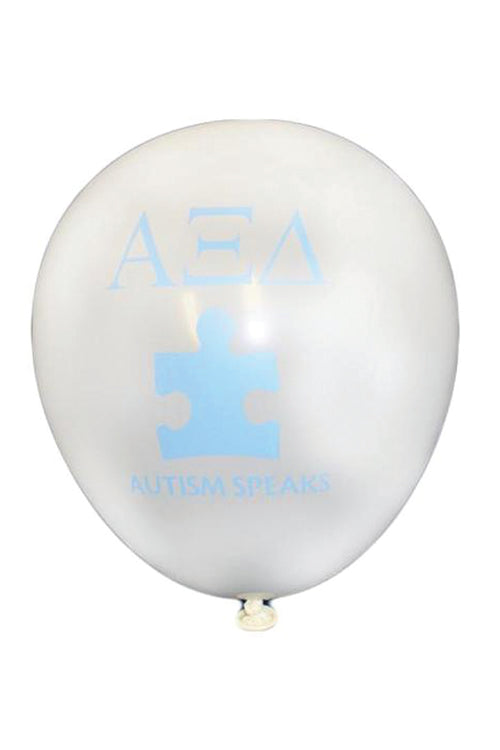 Autism Speaks White Balloons