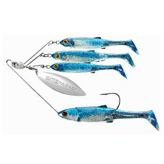 Baitball Spinner Rig Freshwater, Large, 3/4 oz Weight, 1'-15' Depth, Blue/Silver, Per 1