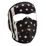 ZANheadgear Neoprene Full Mask Black-White Vintage Flag