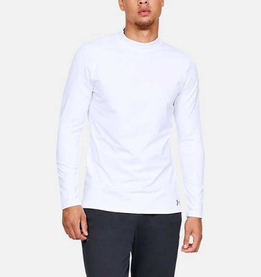 UNDER ARMOUR COLD GEAR LONG SLEEVE- WHITE