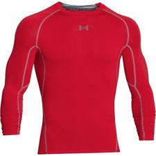 UNDER ARMOUR HEAT GEAR LONG SLEEVE- RED