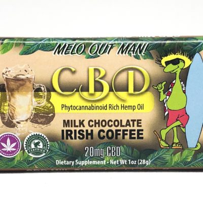 Kava Artisan Irish Coffee CBD Milk Chocolate Bar 20 mg Quality Tested Hemp Extract Cannabidiol Oil, Purity Guarantee