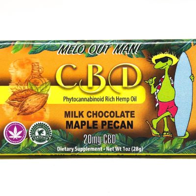 Kava Artisan Maple Pecan CBD Milk Chocolate Bar with Pure Hemp Extract, Organic Ingredients, Quality Guaranteed