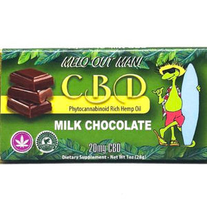 Kava Artisan CBD Milk Chocolate Bar made with All Natural Organic Ingredients, Edible Cannabidiol 20 mg