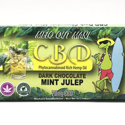 Kava Artisan Mint Julep CBD Dark Chocolate Bar 3rd Party Tested Hemp Oil with Zero THC made with safe Organic Ingredients