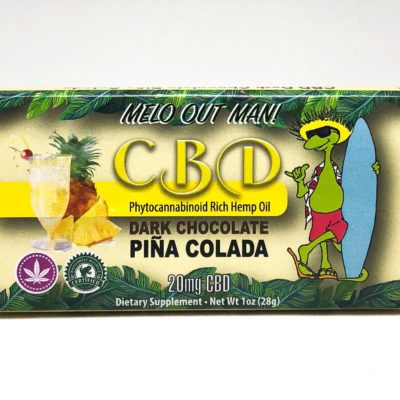 Kava Artisan Pina Colada CBD Dark Chocolate Bar with Rich Hemp Oil and Organic Ingredients