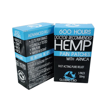 Hemp CBD Patches 5 Pack 50 MG CBD Total
