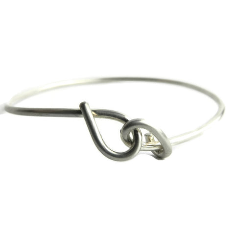 forget-me-knot plain bangle - e. scott originals